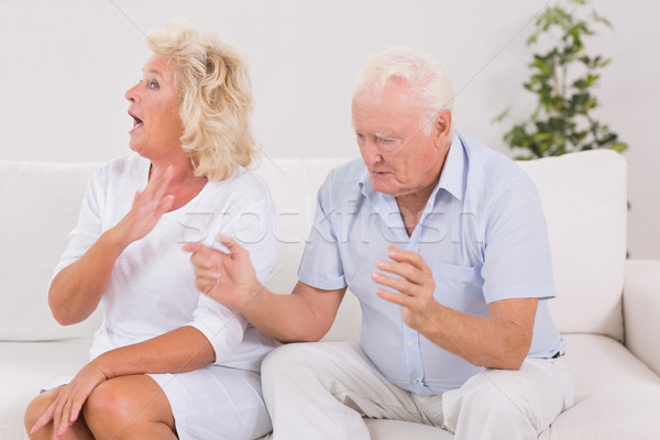 Elderly couple quarrelling  Stock photo © wavebreak_media