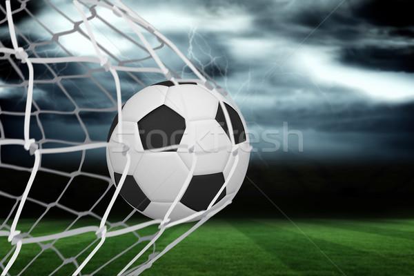 サッカー 戻る 純 ピッチ 嵐の 空 ストックフォト © wavebreak_media