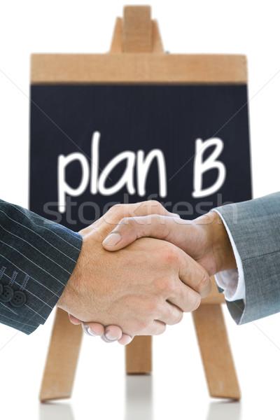 Afbeelding business handdruk plan b geschreven Stockfoto © wavebreak_media