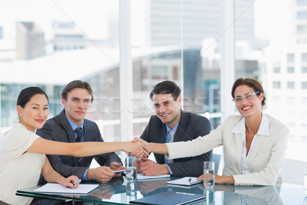 Handshake to seal a deal after a job recruitment meeting Stock photo © wavebreak_media