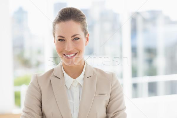 Closeup portrait of a young businesswoman smiling Stock photo © wavebreak_media