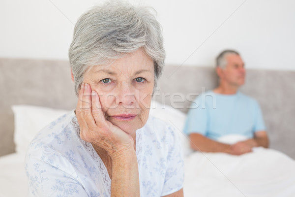 Teleurgesteld senior vrouw echtgenoot portret home Stockfoto © wavebreak_media
