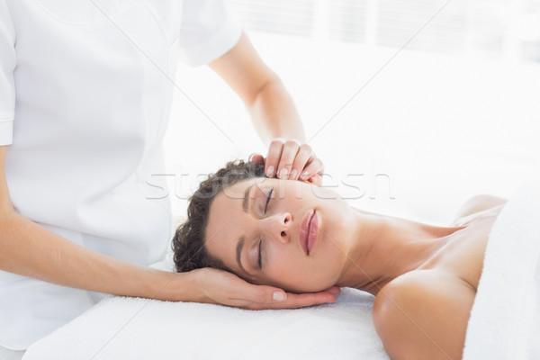 Woman receiving head massage Stock photo © wavebreak_media