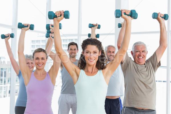 Classe halteres ginásio fitness brilhante Foto stock © wavebreak_media