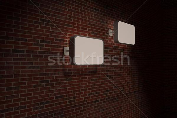 Işaretleri tuğla duvar Stok fotoğraf © wavebreak_media