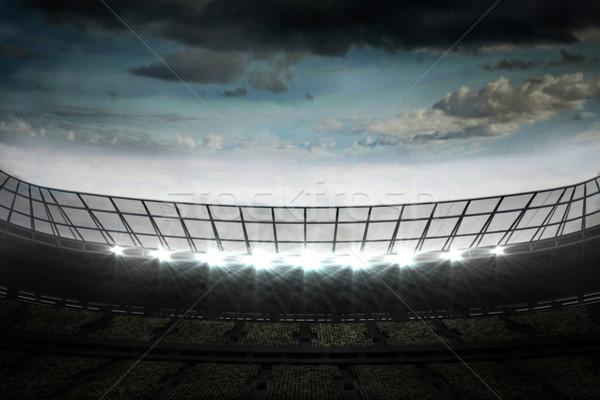 Piłka nożna stadion mętny niebo cyfrowo Zdjęcia stock © wavebreak_media
