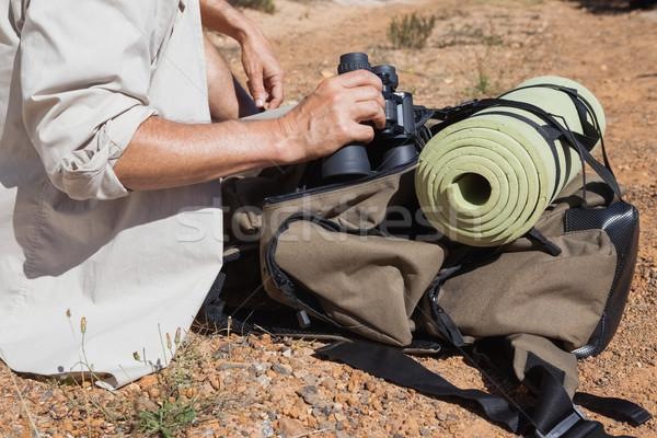 Hiker taking a break on country trail  Stock photo © wavebreak_media