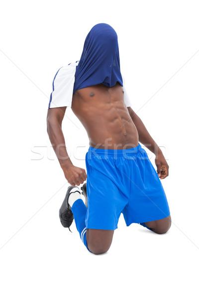 Football player in blue celebrating Stock photo © wavebreak_media