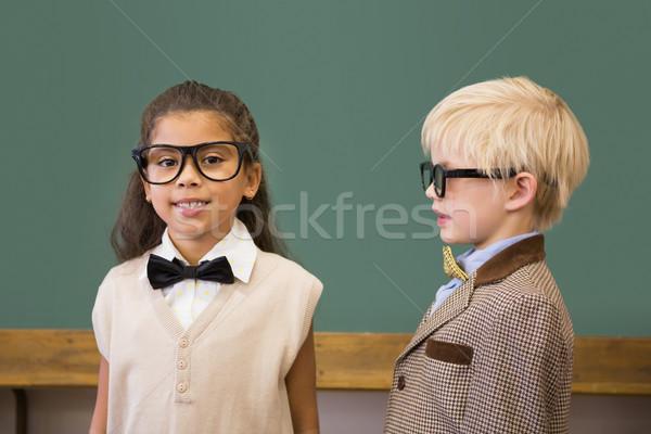 Cute pupils dressed up as teachers in classroom Stock photo © wavebreak_media