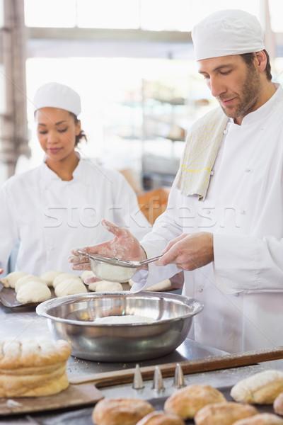 Fırıncı un çanak mutfak fırın iş Stok fotoğraf © wavebreak_media