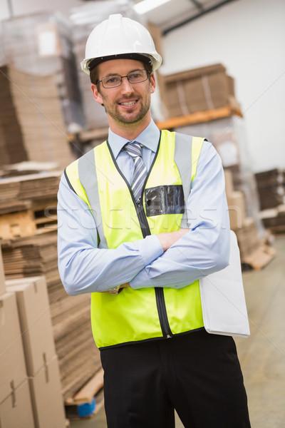 Werknemer magazijn portret business Stockfoto © wavebreak_media