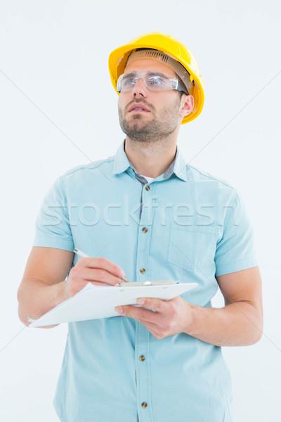 Felügyelő másfelé néz ír vágólap férfi fehér Stock fotó © wavebreak_media