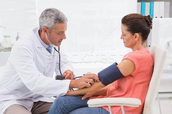 Orvos teszt beteg orvosi iroda nő Stock fotó © wavebreak_media