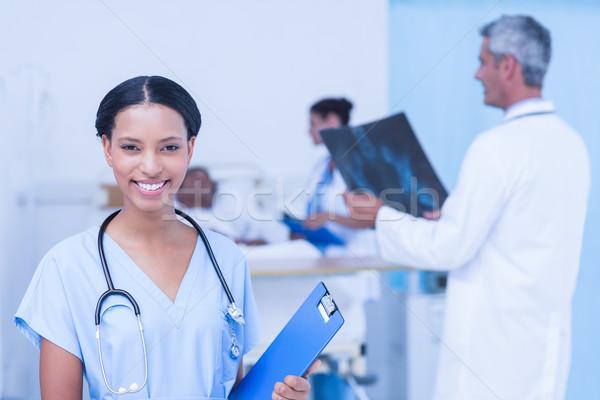 Stok fotoğraf: Doktorlar · hasta · xray · hastane · kadın · ofis