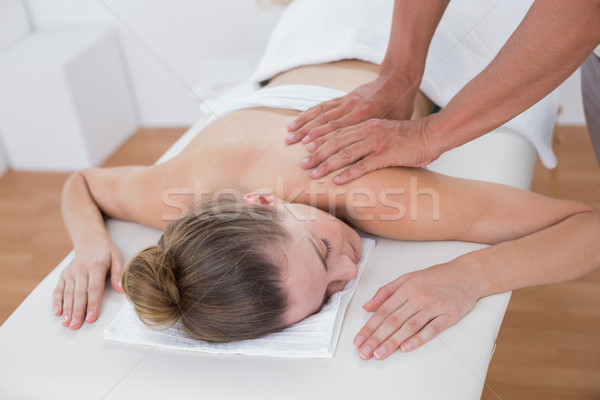 Physiotherapist doing arm massage to his patient Stock photo © wavebreak_media