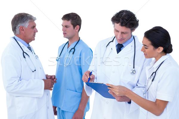 Artsen bespreken samen witte vrouw Stockfoto © wavebreak_media