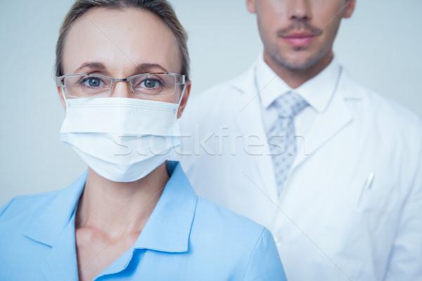 Close up portrait of dentists Stock photo © wavebreak_media