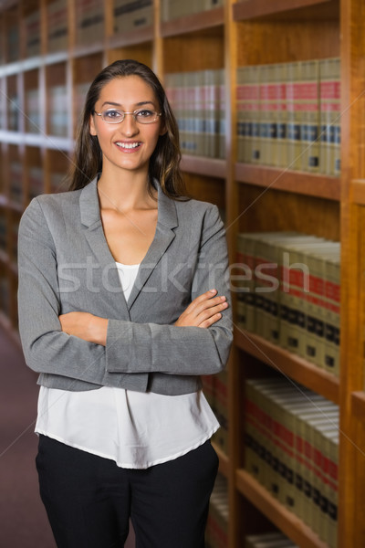 Pretty lawyer in the law library Stock photo © wavebreak_media