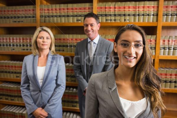 Адвокаты чтение книга прав библиотека университета Сток-фото © wavebreak_media