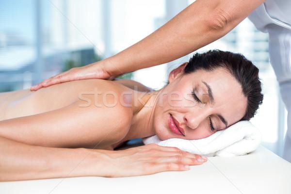 Sorridere bruna indietro massaggio sani spa Foto d'archivio © wavebreak_media