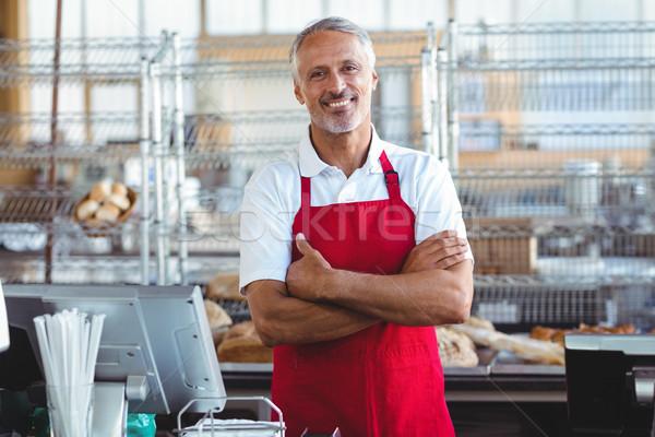 Barista glimlachend camera bakkerij business Stockfoto © wavebreak_media