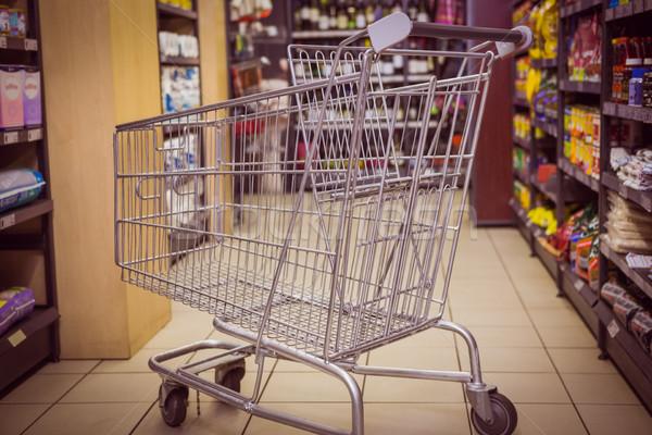 Produto prateleira supermercado carrinho varejo Foto stock © wavebreak_media