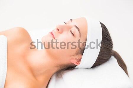 Beautiful woman on massage table Stock photo © wavebreak_media