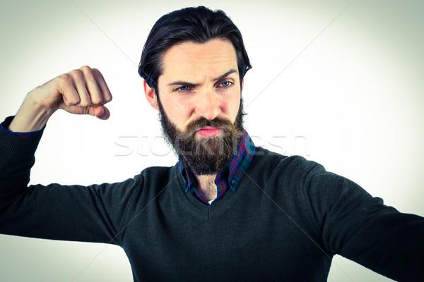 Jóképű hipszter elvesz kar férfi kép Stock fotó © wavebreak_media