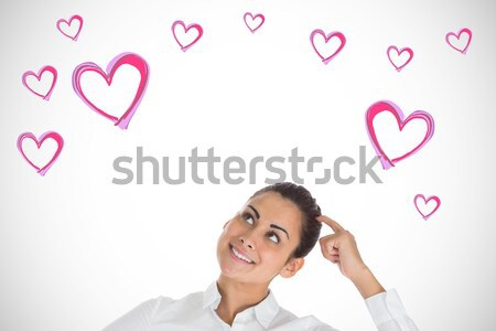 Depressed couple holding broken heart Stock photo © wavebreak_media