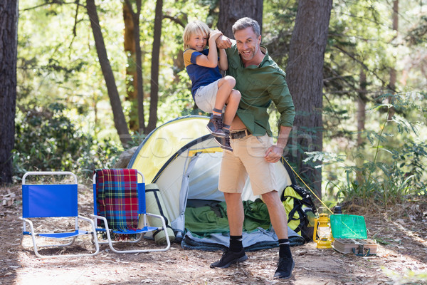 Pai filho tenda Foto stock © wavebreak_media