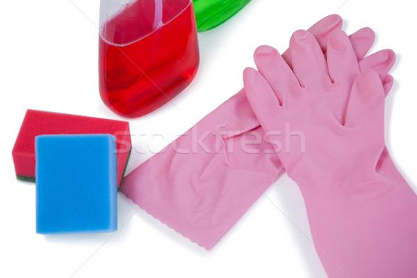 Detergente spray bottiglie spugna gomma guanto Foto d'archivio © wavebreak_media