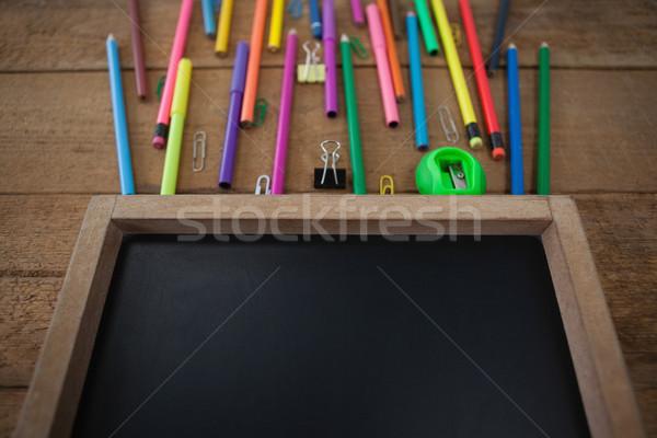 школьные принадлежности деревянный стол окна таблице обучения Сток-фото © wavebreak_media