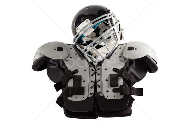 Close up of sports helmet on chest protector Stock photo © wavebreak_media