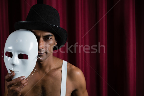 художник белый маске этап искусства Сток-фото © wavebreak_media