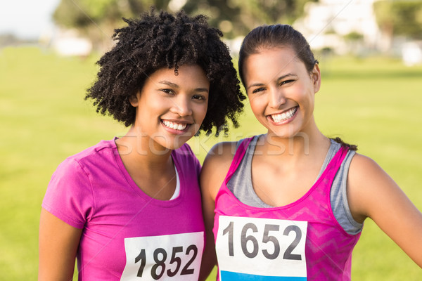 2 笑みを浮かべて ランナー 乳癌 マラソン 肖像 ストックフォト © wavebreak_media