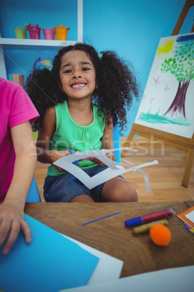 幸せ 子供 芸術 工芸 一緒に デスク ストックフォト © wavebreak_media