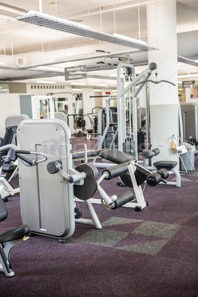 Gymnase aucun peuple intérieur santé club exercice Photo stock © wavebreak_media