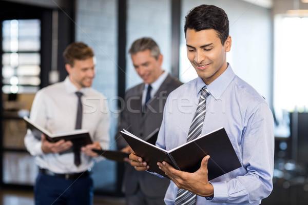 Squadra di affari documento organizzatore ufficio business uomo Foto d'archivio © wavebreak_media