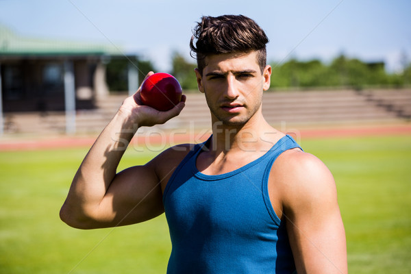 Athlete about to throw shot put ball Stock photo © wavebreak_media