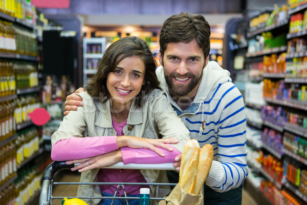 Heureux couple supermarché portrait femme Photo stock © wavebreak_media
