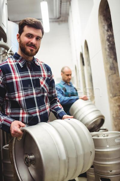 владелец пивоваренный завод портрет человека металл Сток-фото © wavebreak_media