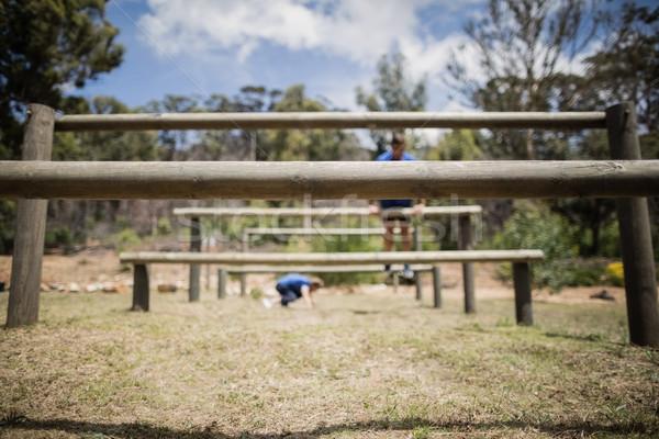 Człowiek kobieta skoki fitness Zdjęcia stock © wavebreak_media