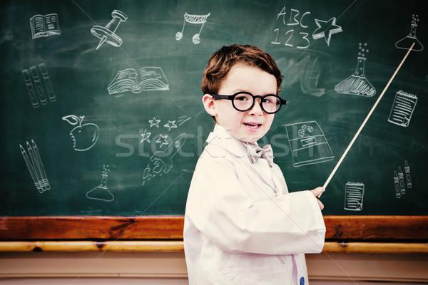 összetett kép iskola firkák portré fiú Stock fotó © wavebreak_media