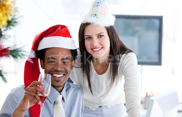 飲料 クリスマス 会社 オフィス 幸せ ストックフォト © wavebreak_media