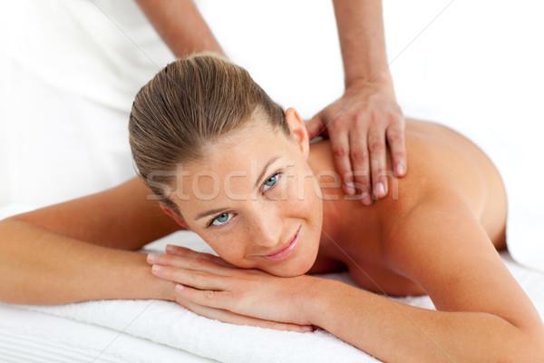 Ritratto donna massaggio spa centro mani Foto d'archivio © wavebreak_media