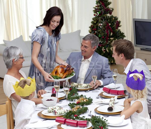 幸せな家族 祝う クリスマス ディナー トルコ ホーム ストックフォト © wavebreak_media