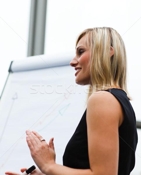 Beautiful businesswoman clapping after a presentation Stock photo © wavebreak_media