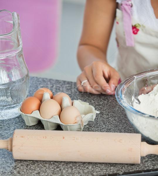 Mother and child baking cookies in kitchen Stock photo © wavebreak_media