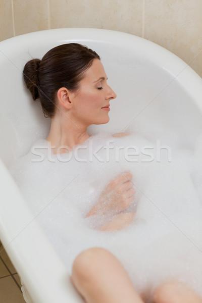 Bela mulher banho olhos beleza jovem Foto stock © wavebreak_media