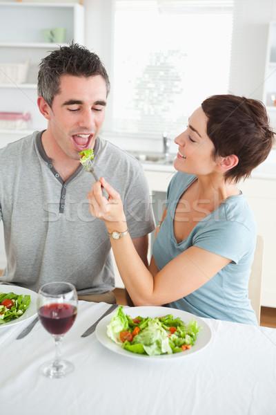 Kobieta mąż jadalnia miłości Zdjęcia stock © wavebreak_media